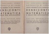 (Università Roma) Rendiconti di matematica e delle sue applicazioni 1962