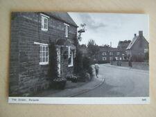 B&W Postcard - THE GREEN, HARPOLE. Unused. Standard size.