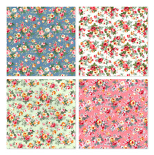 Copen Roses Florals  100% Cotton fabric, Sewing, Crafts, UK SELLER, 4 colours