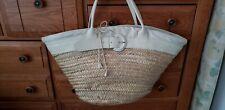 FURLA ITALY Summer Straw Beach Tote Bag Handbag Basket Weave  Large OVERSIZED