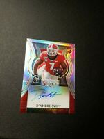 D'Andre Swift AUTO 2020 PANINI Select PRIZM Draft Picks Silver RC REFRACTOR NICE