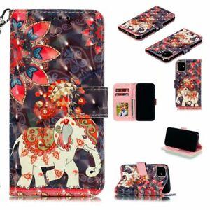 Luxury Fashion Elephant Hot Flip Wallet Women Girl Case Cover For Various Phones