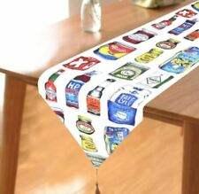32x150cm Table Runner Digital Printed Canned Goods