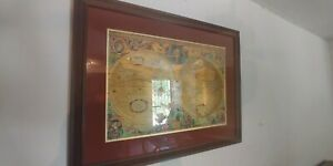 Nova Totivs Terrarvm Orbis Geographica Tabvla Gold Foiled World Map Framed