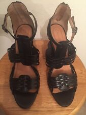 New Corso Como Leather Woven Sandals Size 10