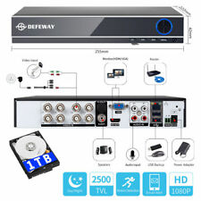 Defeway 4 CH 1500tvl DVR Security System Motion Detection Remote Playback 1tb