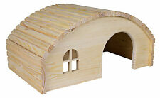 Large Curved Roof Pine Lodge Wooden House for Rabbits, Guinea Pigs, Rats, Degus