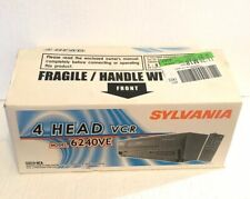 New listing Sylvania 4 Head Vcr Model 6240Ve Vhs Hq 19 Micron Heads New In Open Box