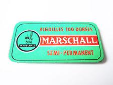 Grammophon NADELDOSE MARSCHALL SEMI PERMANENT gramophone needle tin