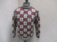 MENS J CREW LARGE ROLL NECK WOOL JUMPER / REF A14 841
