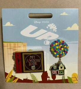 Disney Pin Up Adventure Book & Balloon House 2 Pin Set Lot Hinged Sold Out
