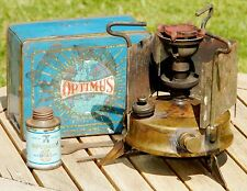 Vintage Optimus No 96  Paraffin Primus Camping Stove - Original Tin