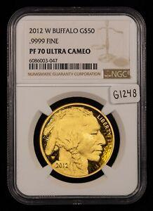 2012-W G$50 1 oz 9999 American Buffalo Gold Coin - NGC PF 70 Ultra Cameo - G1248