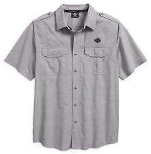 HARLEY-DAVIDSON 2018 Camisa Casual de manga corta gris talla M 96419-18vt/000m