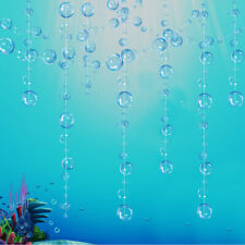 Transparent Blue Bubble Garlands for Under The Sea Mermaid Water Theme Party