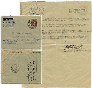 NIGERIA STATIONERY AIRLETTER to SWEDEN STAMP DEALER 1949