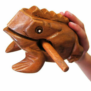 Home Décor Money Frog Lucky Craft Wooden Frogs Home Office Decoration New.