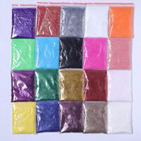 5g Nail Powder Glitter Shining Shimmer Gold Silver Colorful Nail Art Pigment DIY