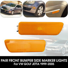 2x Side Marker Turn Signal Light Front Bumper Lamp For VW GOLF JETTA MK4 99-2005