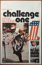 Affiche Belge CHALLENGE ONE On any Sunday STEVE McQUEEN Moto BRUCE BROWN 37x55cm