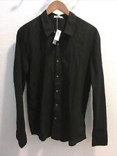 James Perse Mens Standard Shirt Mlc3408 Black Sz 2 (nwt)