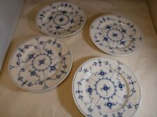 4 Royal Copenhagen Blue Fluted Plain Dessert / Pie Plate Plates 6.5 Inch 1/180