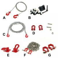 RC 1/10 Scale Alloy Hitch Tow Shackles Hooks For AXIAL D90 SCX10 Car O1B0