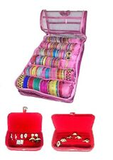 NEW COMBO 6 ROLL BANGLE STORAGE CASE RING EARRINGS ORGANIZER TRAVEL JEWELRY BOX