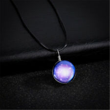 Transparent Glass Ball Pendant Glow In The Dark Jewelry Luminous Necklace
