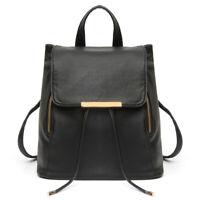 Women Girls Leather Travel Satchel Shoulder Bag Lady Backpack Schoolbag Rucksack