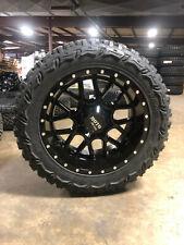 "20x10 Moto Metal Mo986 Black Wheels 33"" Mt Tires 6x135 Ford F150 Expedition"