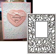 Flowers TULIP WINDOW embossing folders CRAFTS TOO CTFD3051 Cuttlebug Compatible