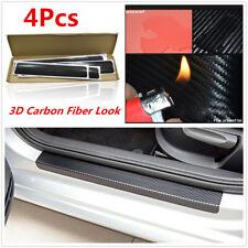 4Pcs 3D Carbon Fiber Look Car Door Sill Scuff Pedal Protect Stickers Accessories