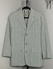Tommy Bahama Island Soft Striped Seersucker Blazer Jacket M