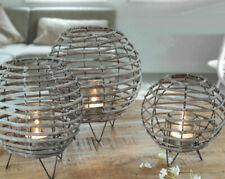 XL Bambuslaterne Bambus Laterne Windlicht Kerze Garten Deko Natur Outdoor Set