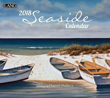 SEASIDE - 2018 DELUXE WALL CALENDAR - BRAND NEW - LANG ART OCEAN 1877