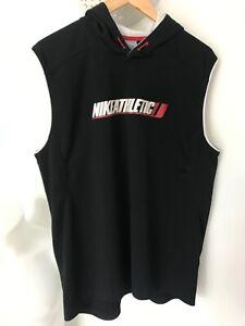 Nike Athletic Sleeveless Hoodie Large