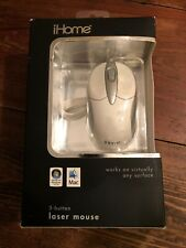 iHome 3 Button Laser Mouse - White