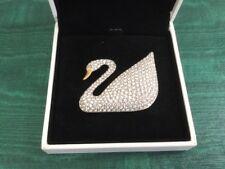 Swarovski #103065 Century Swan Pin 00004000  - Retired and rare, with box, never worn