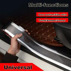 Car Door Sill Scuff Carbon Fiber Stickers Welcome Pedal Bumper Fender Protector