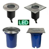 Bodeneinbauleuchte GU10 LED Bodenleuchte Bodeneinbaustrahler 230V 220V flach