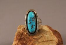 Old Pawn Navajo Turquoise Ring  Size 8 3/4