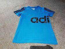 Boys Adidas Blue T-Shirt Age 11-12 Years Gc