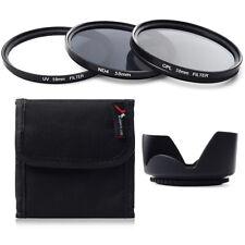 UV CPL ND4 Filter Set + Lens Hood 58mm For Canon 60D 70D 100D 600D 1100D LF282