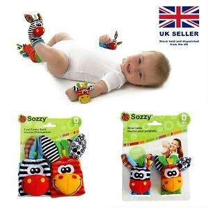 Sozzy Baby Rattle Toys Animal Wrist Rattle and Foot Finder Development Toys Gift