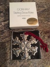 1977 gorham sterling silver snowflake W Original Box And Pouch