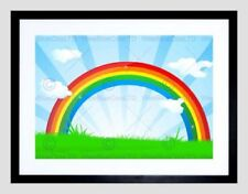 Rainbow Cartoon Art Posters