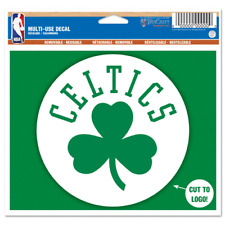 "Boston Celtics 5"" x 6"" Shamrock Die Cut Multi Use Decal Cling - Truck Car Window"