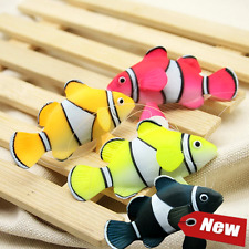 Bestgle Aquarium Decortion, Glowing Ornament Silicone Gloating Fake Fish for Fis