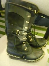 SOREL Conquest Carly Lace up Leather Boots Women's Size 9.5 black